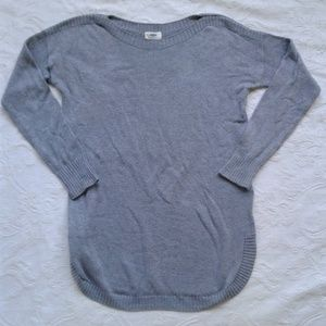 Old Navy Sweater Long Sleeve Gray Cotton Blend S